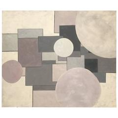 Shades of Pink and Grey Geometric Shape Acrylic Painting by George Mullen
