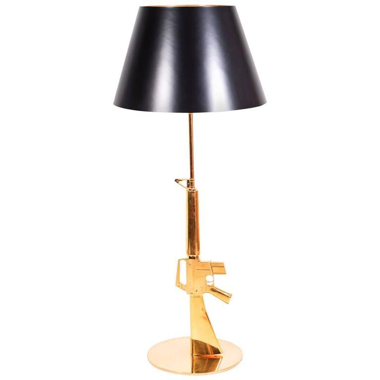 philippe starck machine gun lamp 20th century for sale at 1stdibs. Black Bedroom Furniture Sets. Home Design Ideas
