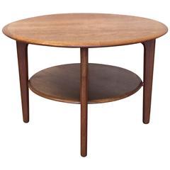Round Danish Modern Teak Side Table    MOVING SALE!!!!