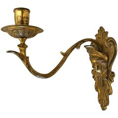 19th Century Gilt Bronze Candle Sconce