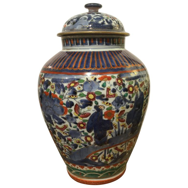 18th Century Japanese Arita Clobbered Vase