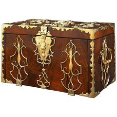 18th Century British Brass Mounted Strong Box