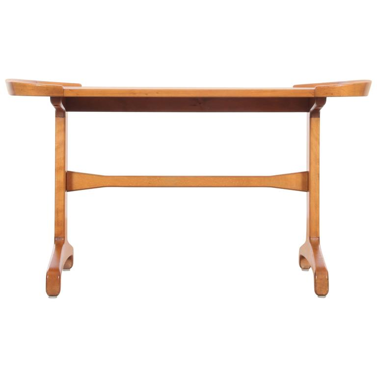 Mid Century Modern Coffee Table In Beech And Elm For Sale At 1stdibs