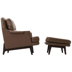Roger Sprunger Lounge Chair and Ottoman