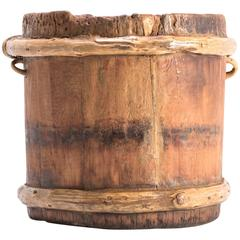 Mongolian Forever Knot Grain Container