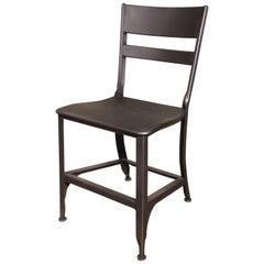 Dining Chair, Seat Vintage Industrial Mid Century Modern Steel / Metal Toledo
