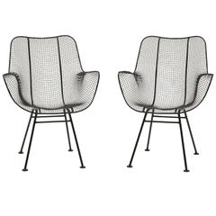 """Pair of Russell Woodard""""Sculptura"""" High Back Side / Dining Chairs Excellent"""