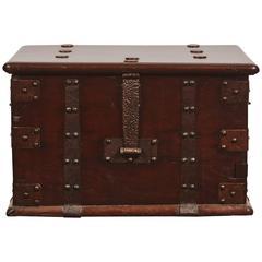 Late 18th Century Qing Style Iron Bound Money Safe