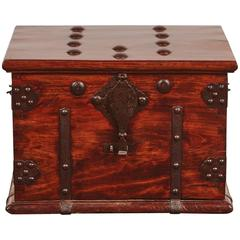 19th Century Iron Bound Trunk