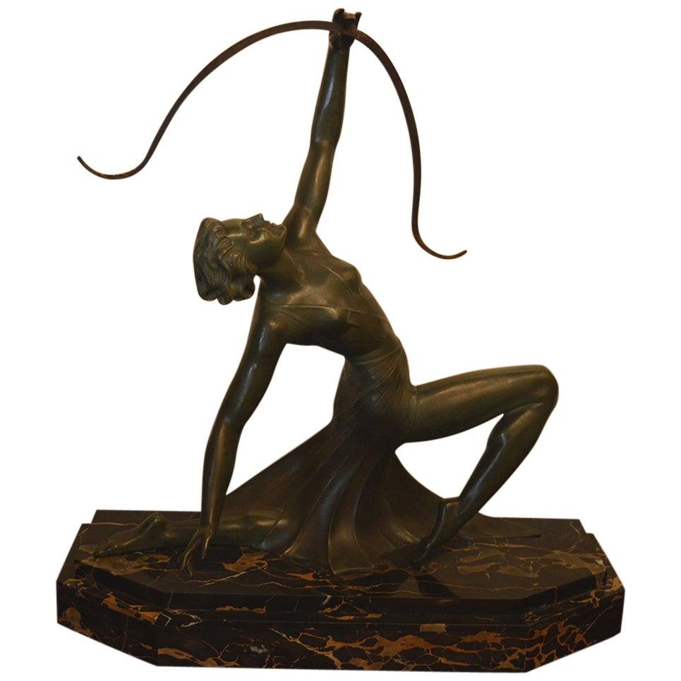Art Deco Bronze Archer Statue