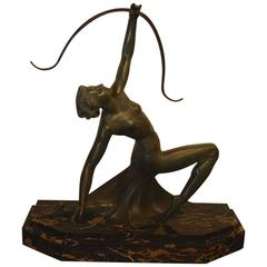 Art Deco Bronze Archer Statue