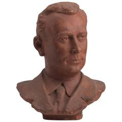 Terracotta Bust of Gentleman, circa 1930