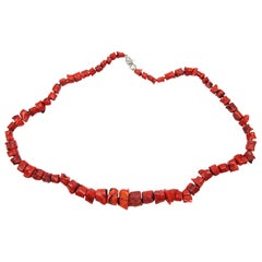 Stunning Coral Necklace, Great Color