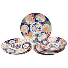 Collection of Six Imari Chargers of Various Form and Size