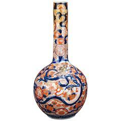 Imari Porcelain Bottle Vase