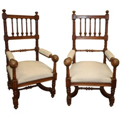 Late 19th Century Pair of French Chairs