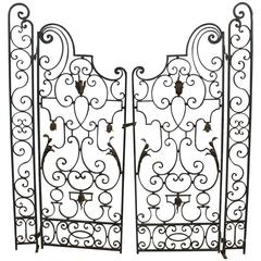 Pair of 19th Century French Iron Gate