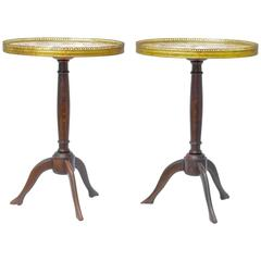 Oval Marble Top Gueridon, Pair