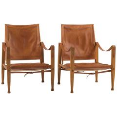 Pair of Kaare Klint Safari Chairs for Rud. Rasmussen