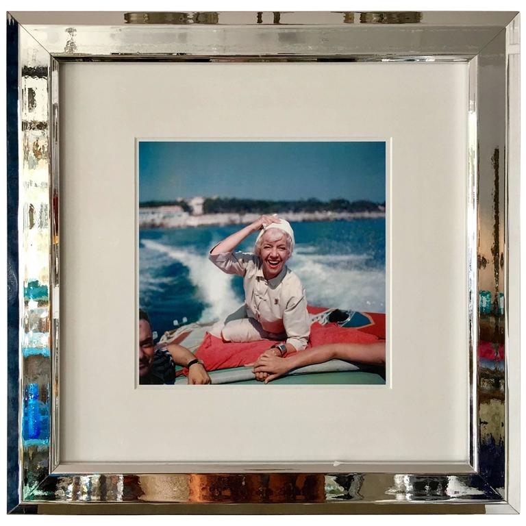 """1950'S Slim Aarons Photograph """"Lily Pons""""-Framed"""