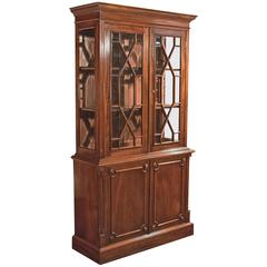 Mid-Century Glazed Bookcase Cabinet, Georgian Taste