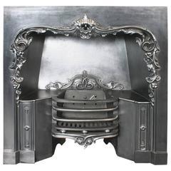 Reclaimed 19th Century William IV Cast Iron Grate