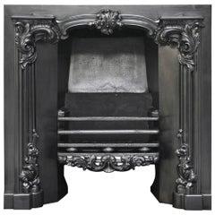 Large Antique Rococo Georgian Cast Iron Register Grate
