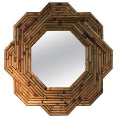 Rattan Mirror from the 1970s