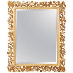 Water Gilded and Carved Mirror