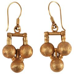 22-Karat Gold Ball Dangle Earrings from India