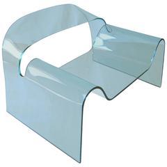"""Ghost"" Glass Armchair by Cini Boeri Tomu Katayanagi Fiam, Late 20th Century"