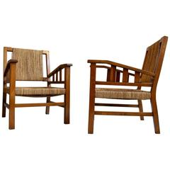Pair of Armchairs by Francois Jourdain