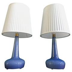Paar Seltene Dänische Lampen Modell 311 von Esben Klint für Holmegaard, 1958