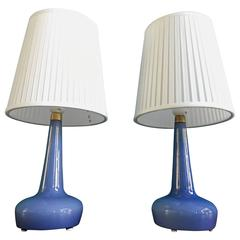 Pair of Rare Danish Table Lamps Model 311 by Esben Klint for Holmegaard, 1958