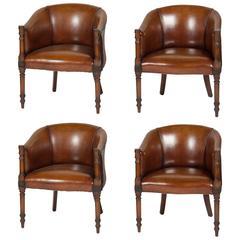 Set of Four Mahogany Tub Chairs