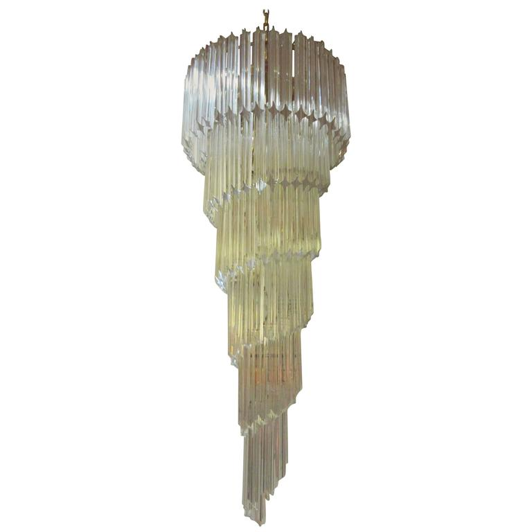 Cascading Glass Chandelier by Venini