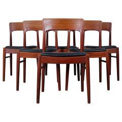 Set of Six Dining Chairs in Teak by Kai Kristiansen