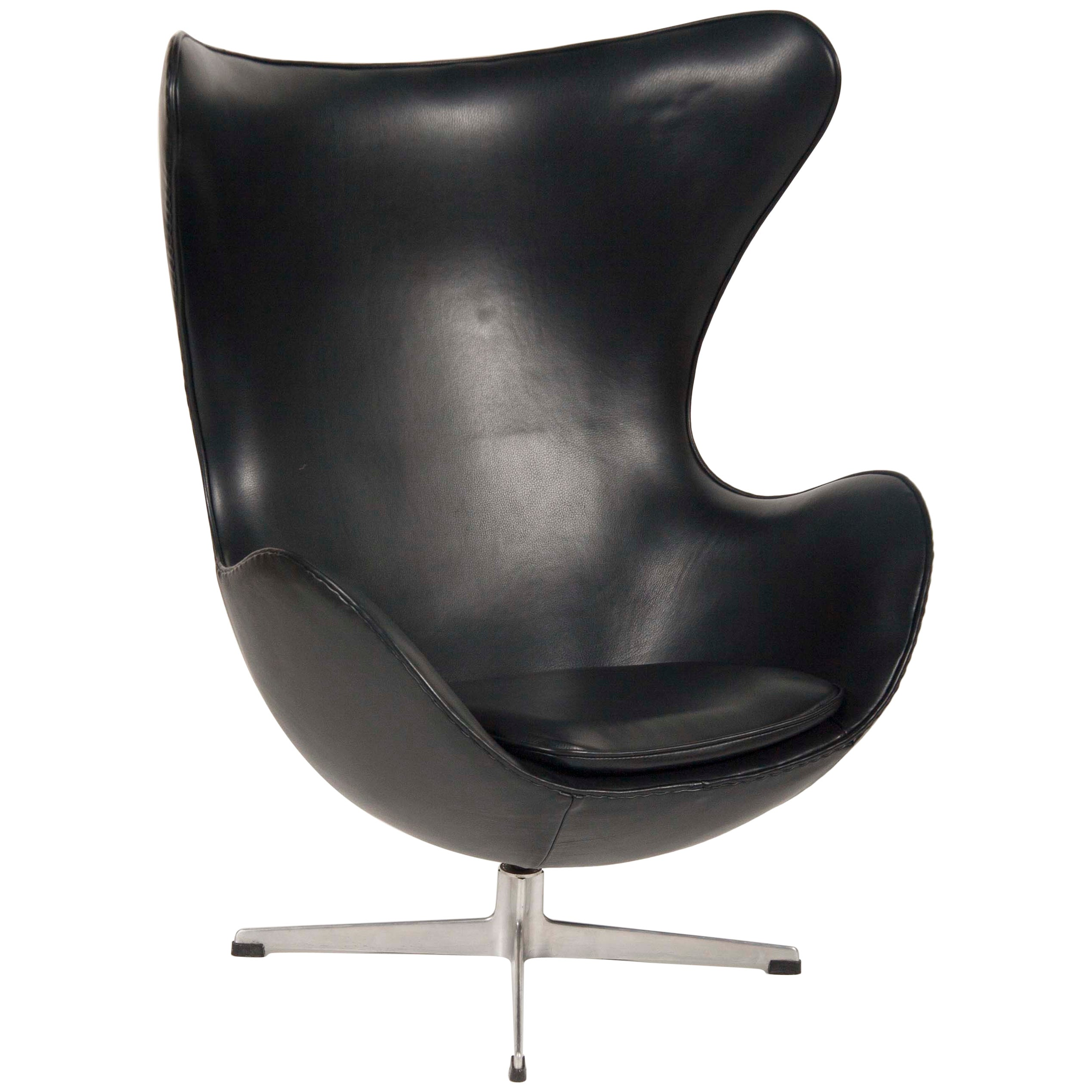 Arne Jacobsen Egg Chair In Edelman Leather