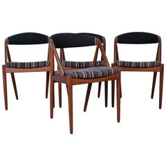 Set of Four Dining Chairs in Teak by Kai Kristiansen, Model 31