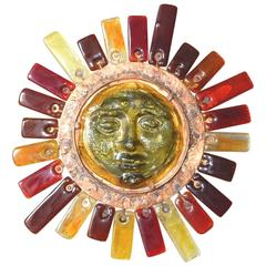 Sun by Felipe Delfinger for Feders Art Glass Wall Lamp