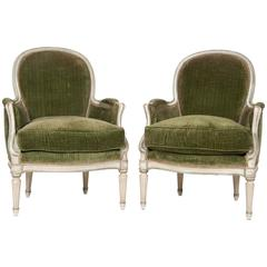 Pair of Louis XVI Style Armchairs Attributed to Jansen