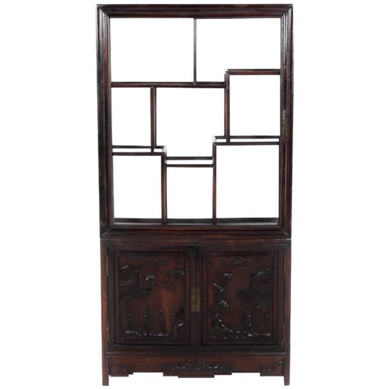 Antique Chinese Display Cabinet Circa 1900 For Sale - Antique Chinese Display Cabinet Circa 1900 For Sale At 1stdibs