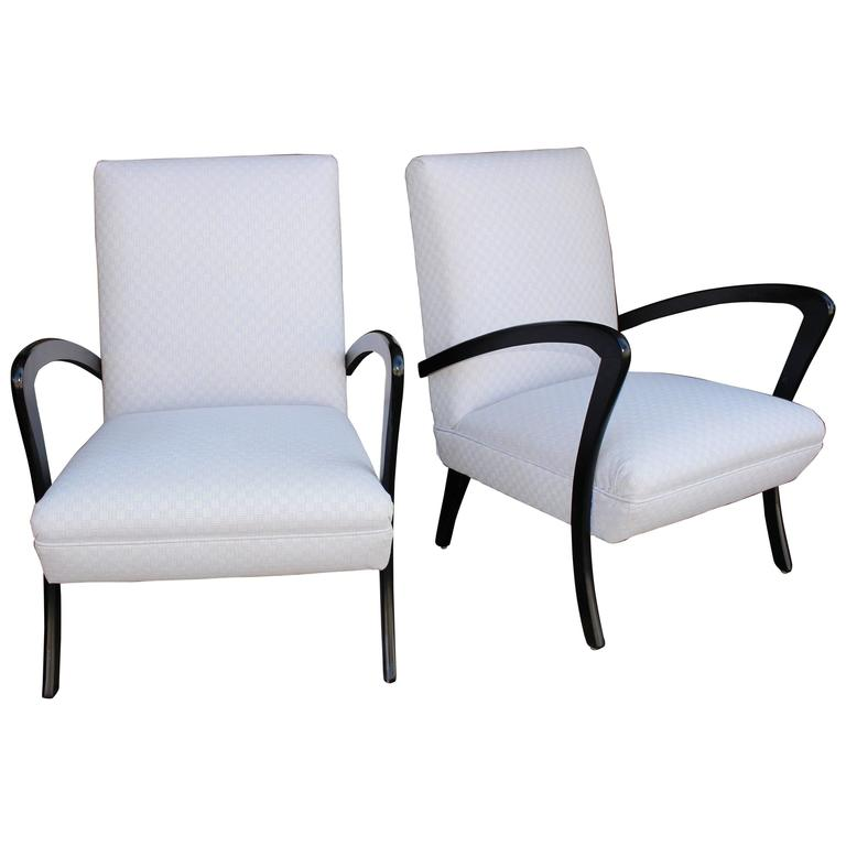 Italian Chairs in Style of Paolo Buffa For Sale