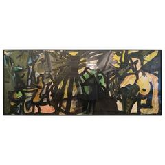 Triptich Painting By Alexander Rutsch