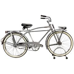 Classic Deco Style Silver King Hex Tube Bicycle