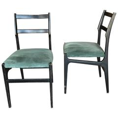 Pair of Gio Ponti Leggera Dining Chairs