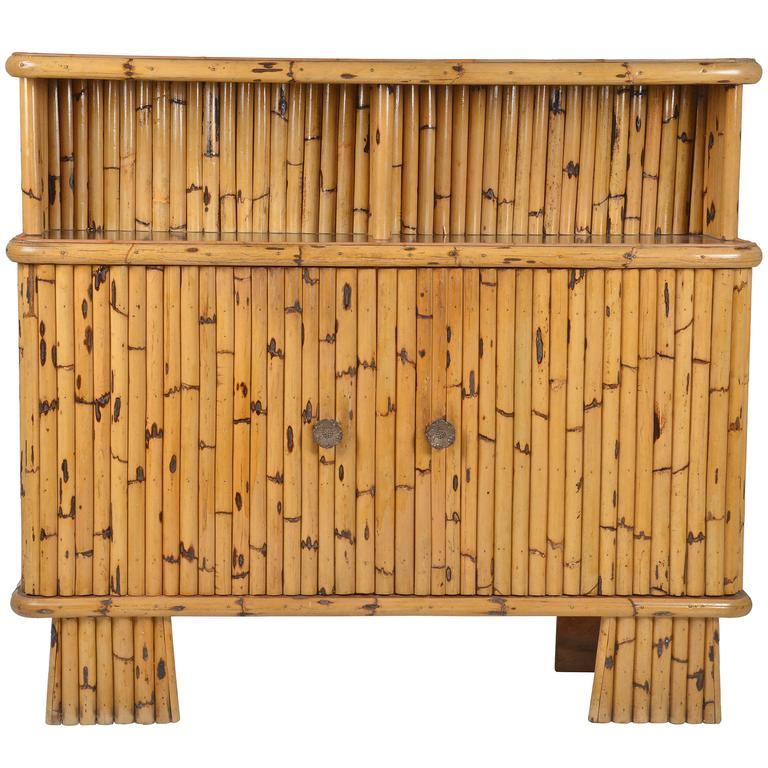 Vintage bamboo cabinet belgium 1970 for sale at 1stdibs for Bamboo kitchen cabinets for sale