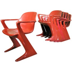 Midcentury German Kangoroo Chair by Ernst Moeckl, 1968