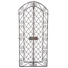 Pair of Tall French Wrought Iron Gates