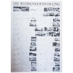 Rare Bauhaus Poster Weisenhofsiedlung